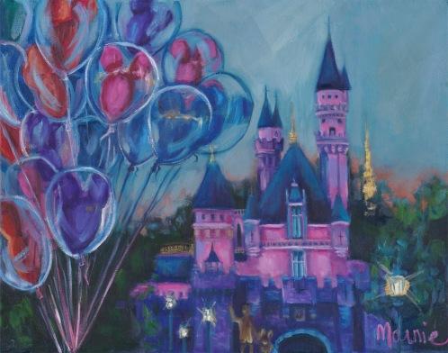 Dusk at Disneyland-sm